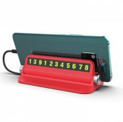 Popular Temporary Parking Phone Numeber Card Red USA