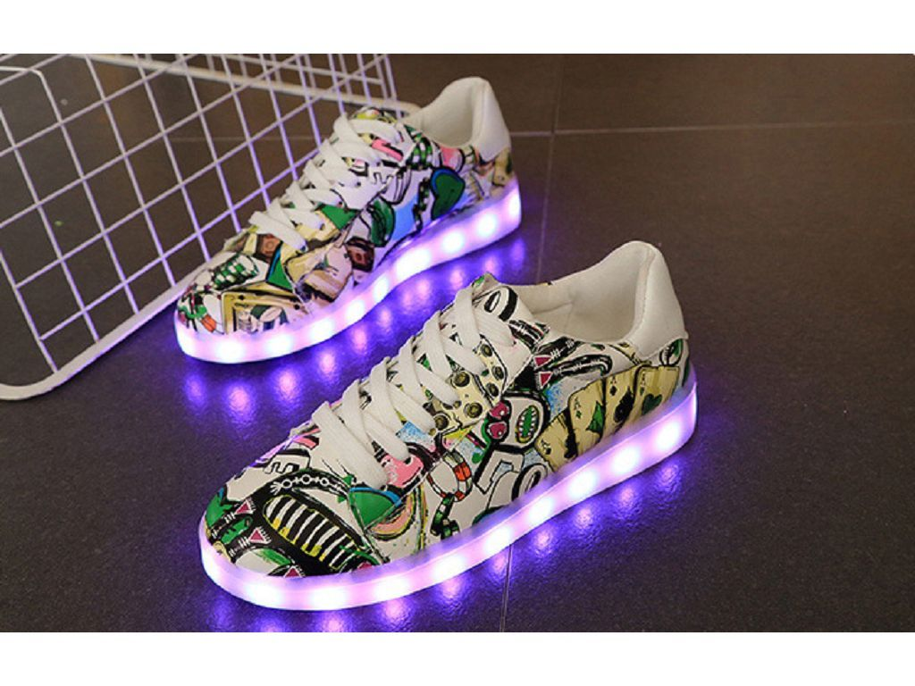 70e15fc5054 Dominie's 2019 Led Shoes Low Top Sneakers Womens Green White Sale ...