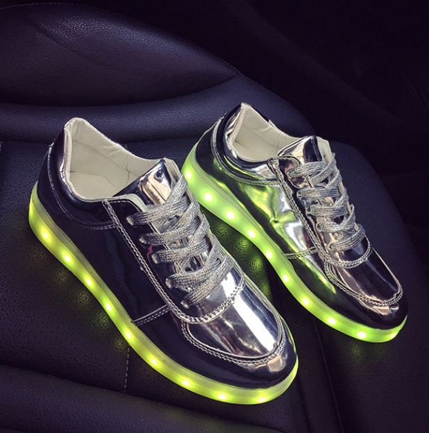2019 New Led Shoes Low Top Sneakers Womens Silver Sale