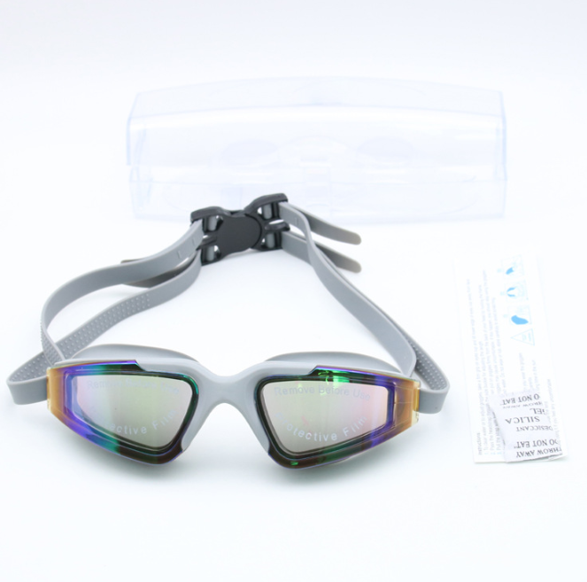 Wholesale Swimming Goggles For Adults Mens Gray Black